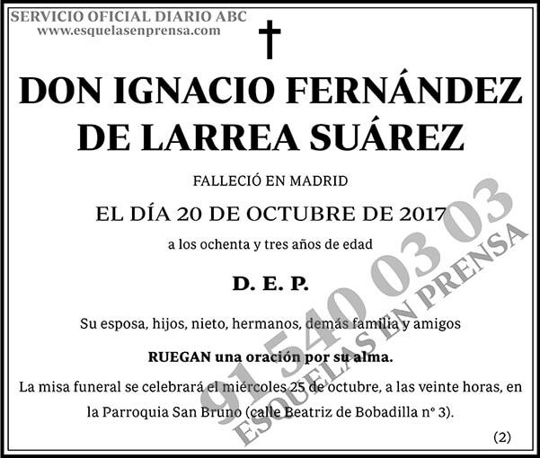 Ignacio Fernández de Larrea Suárez